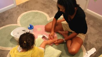 Heather Karazim, of Indianapolis uses wet wrap therapy to help control eczema on her daughter Lucie`s legs. A study conducted at National Jewish Health in Denver shows wet wrap therapy improves symptoms by 71 percent, on average, and benefits to the skin often last more than a month. Details here: bit.ly/1qtgSfb